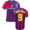 Kép 1/7 - FC Barcelona 21-22 hazai szurkolói mez, replika - Memphis - L