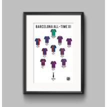 Barcelona - All-time XI poszter (2 db - 1 csomagban)