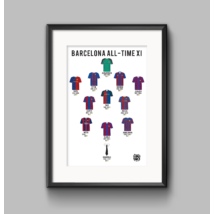 Barcelona - All-time XI poster