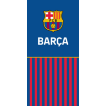 A Barça hivatalos gránátvörös-kék törölközője