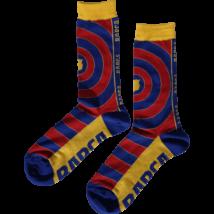 A Barcelona premium gránátvörös-kék zoknija