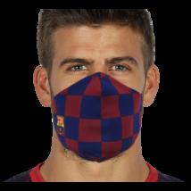 Hivatalos, kockás Barça maszk
