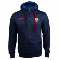 A tengerkék kapucnis Barça pulóver - M