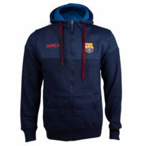 A tengerkék kapucnis Barça pulóver