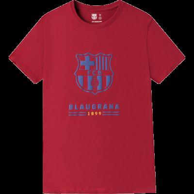 A Barça címeres, blaugrana pólója