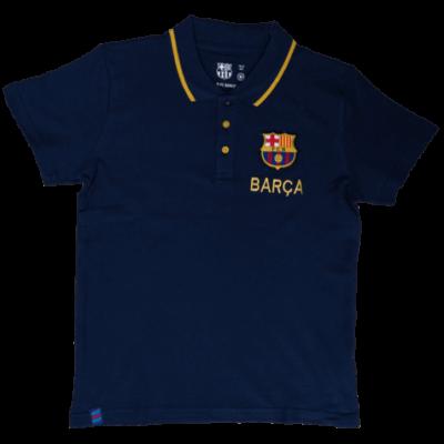 Az elegáns, gyerek Barcelona galléros póló