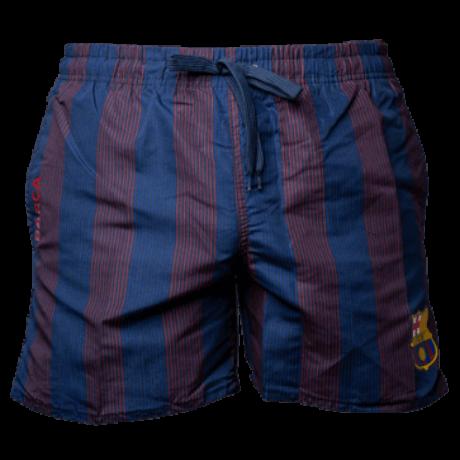 Gránátvörös-kék csíkos Barcelona fürdőnadrág - XL
