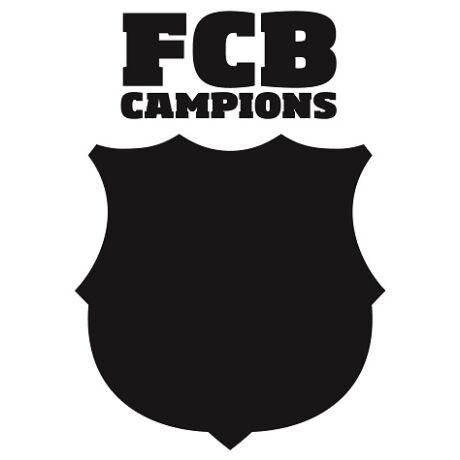 Írható és rajzolható Barcelona címer falmatrica