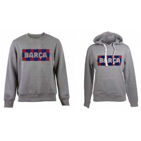 A női és férfi kockás Barçás pulóvered - páros ajánlat - 2XL