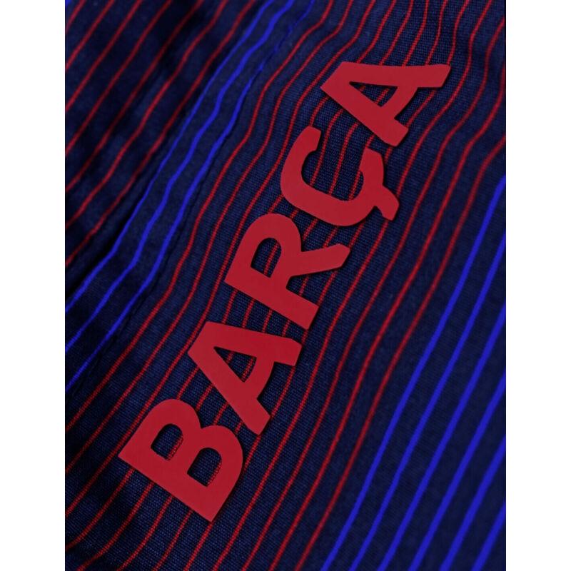 Gránátvörös-kék csíkos Barcelona fürdőnadrág - S